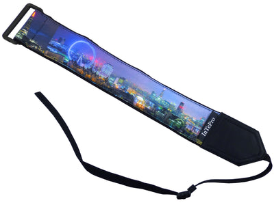 Camera strap with London view. London Skyline Photography.