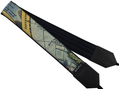 Personalized camera strap with Vintage Great Britain map. Camera accessory with The United Kingdom map.