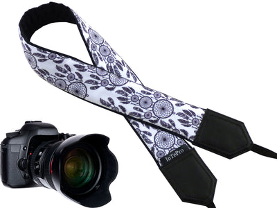 Dreamcatchers camera strap. DSLR / SLR accessories. Durable, light and padded camera strap by InTePros with personalization.
