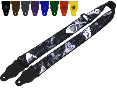 InTePro Acoustic Guitar Strap with Butterfly design