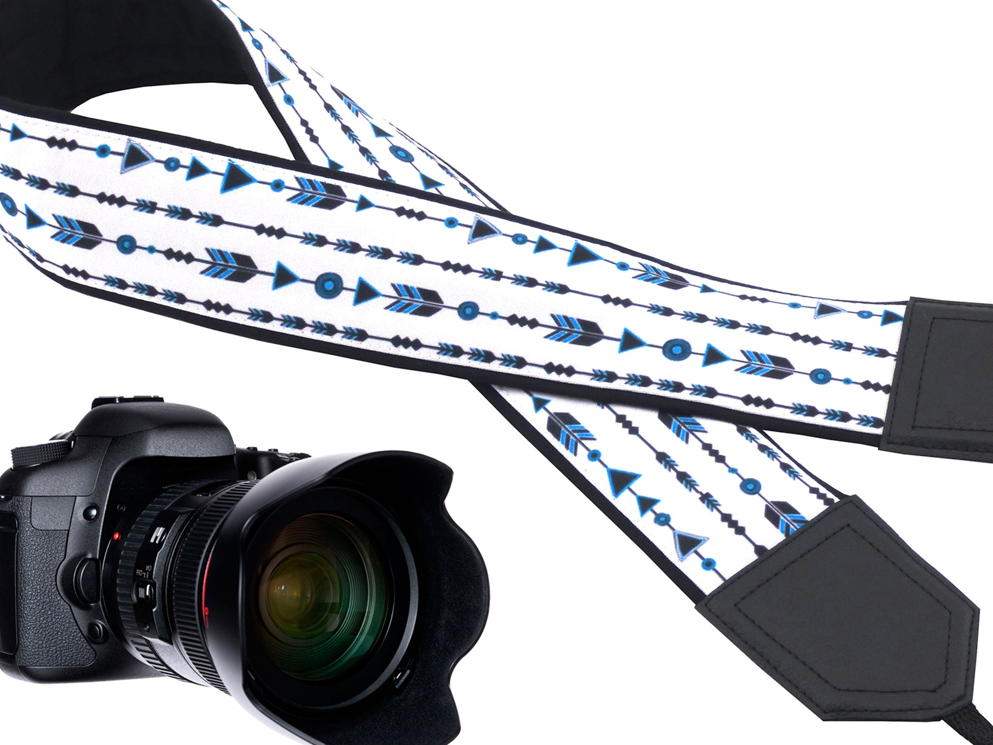Arrow Design camera strap. Comfortable and secure camera strap. Best gift for travelers by InTePro