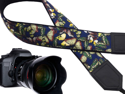 InTePro butterfly camera strap with padding for DSLR and mirrorless cameras. Photo accessory and great gift for photographers and travelers