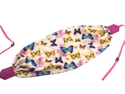 Camera strap scarf. Pink SLR Camera Strap. Butterflies scarf camera strap. Colorful camera strap with flowers and butterflies by InTePro