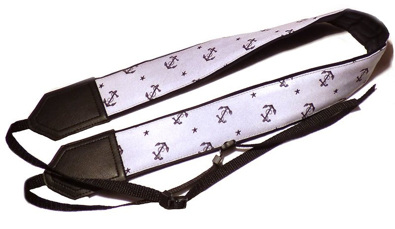 InTePro Anchors and Stars camera strap. DSLR / SLR Camera Strap. Camera accessories.