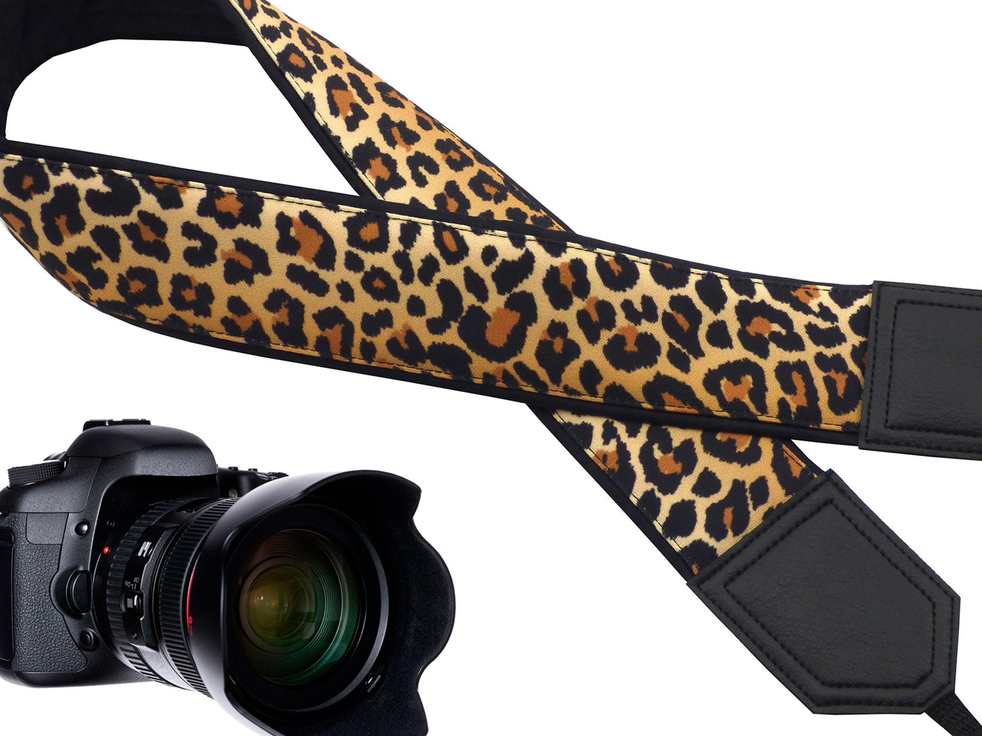Personalized camera strap. Comfy and durable strap. Leopard Jaguar print camera strap for wild animal lovers. Best gift for photographers.
