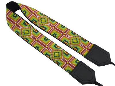 Camera strap with ethnic pattern. DSLR / SLR Camera Strap. Caramel. Camera accessories.