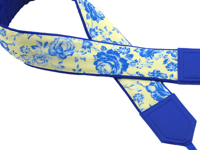 Blue roses camera strap. Cute camera strap. Camera accessory by InTePro