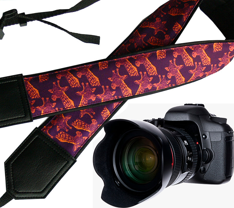 Personalized camera strap with giraffe design. DSLR / SLR Camera Strap. Camera accessories. Great Gift.