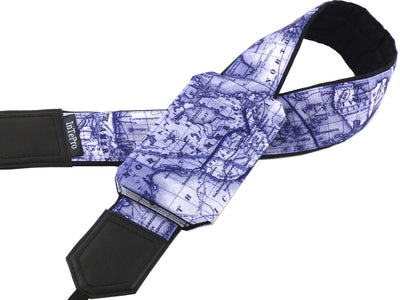 Personalized DSLR Camera Strap with North America, Europe, Asia map. World map camera strap. Cool gifts for travelers by InTePro