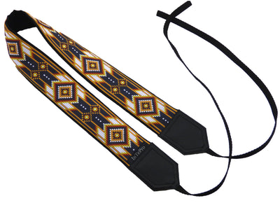 Personalized camera strap with padding and ethnic pattern. Great gift for photographer. Inspired by Native American.