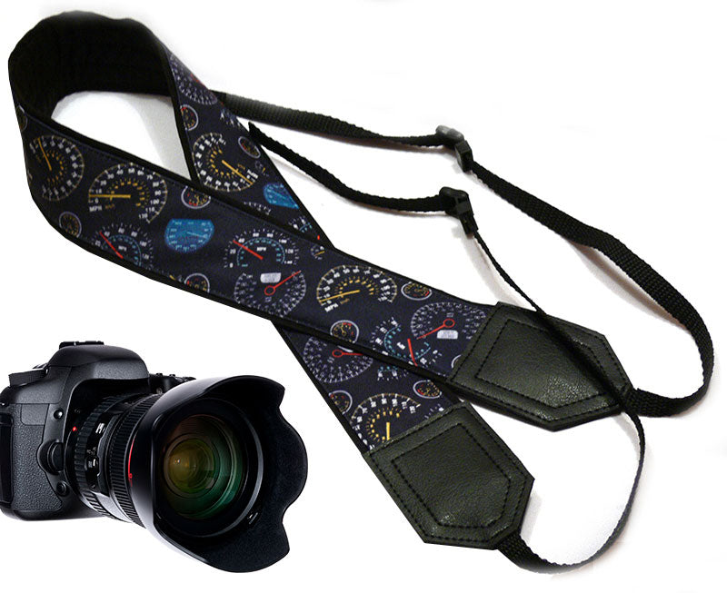 Speedometer camera strap. Car camera strap. DSLR / SLR Camera Strap. Camera accessories by InTePro