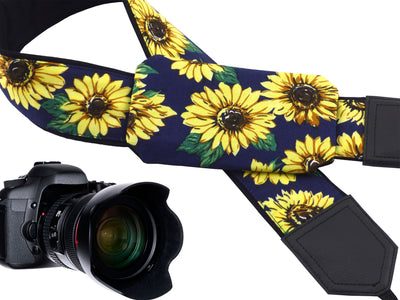 Sunflowers Camera Strap. DSLR / SLR Camera Strap. Photo Camera accessories by InTePro