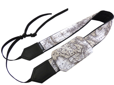 World map camera strap. Personalized camera strap. North America, Europe, Australia. SLR / DSLR Padded camera strap by InTePro