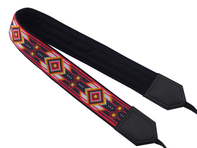 Camera strap inspired by Native American. Southwestern Ethnic Camera strap. Bright DSLR / SLR Camera Strap. Gift ideas by InTePro