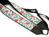 Flowers Camera strap.  Roses DSLR / SLR Camera Strap. Camera accessories. Durable, light weight and well padded camera strap.