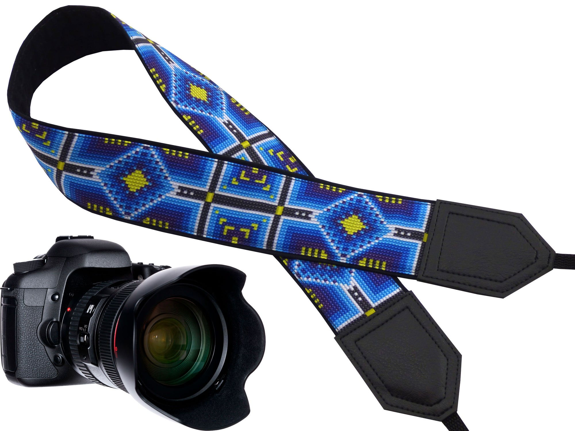 Monogram camera Strap. Personalized Blue Ethnic Camera strap. DSLR Camera Strap. Black Friday Sale. Camera accessories. Photographer gift