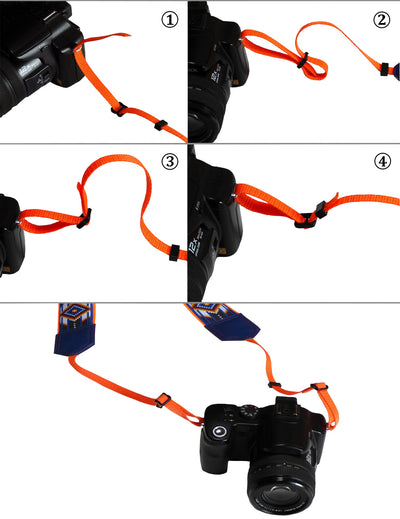 InTePro Camera strap with marine and anchors design for DSLR / SLR and Mirroless Cameras. Dolphins design