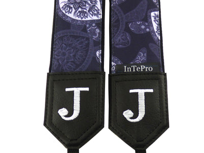 Camera strap Sea Turtles. Gray and white stylized camera strap by InTePro