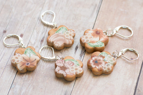 Autumn Sun Stitch Markers
