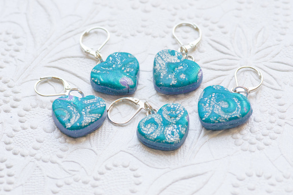Wave of Cerulean Stitch Markers