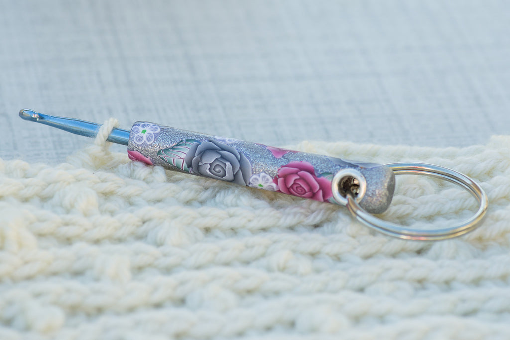 Sterling Rose Key Chain