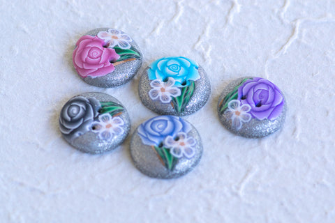Rose Bouquet Buttons