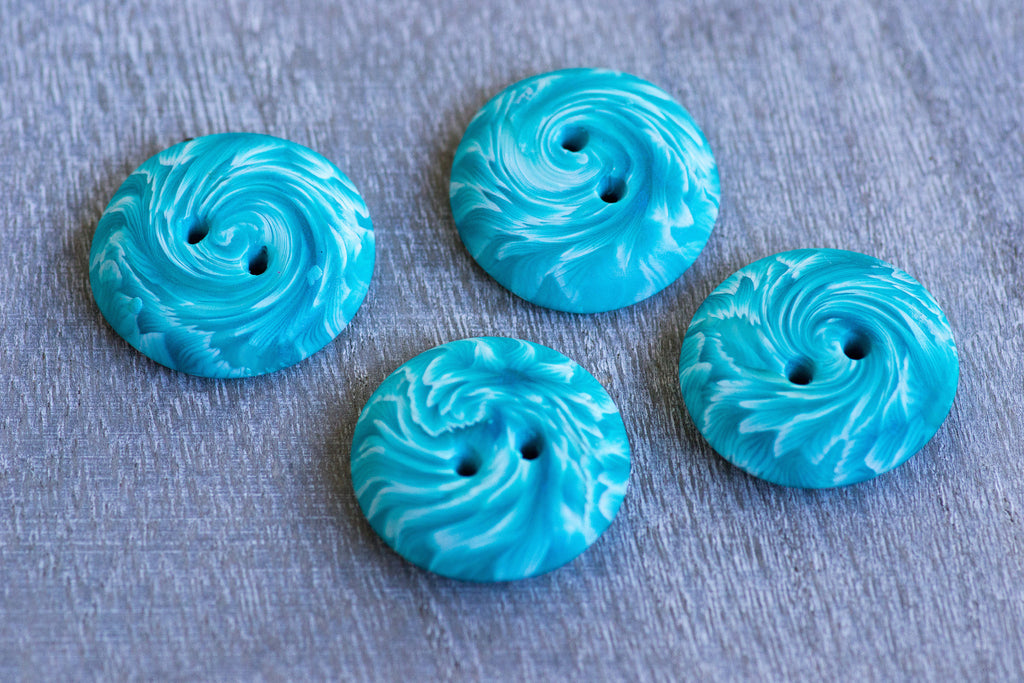 Teal Twist Buttons