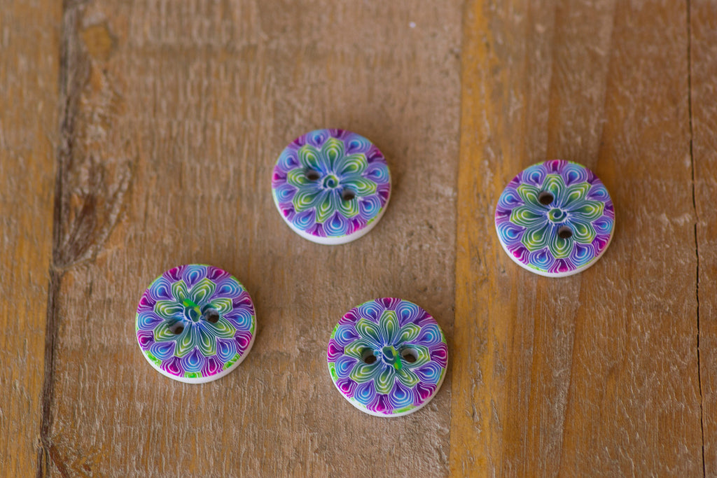Colorful Kaleidoscope Buttons
