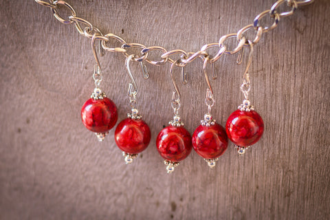 Cherry Red Stitch Markers