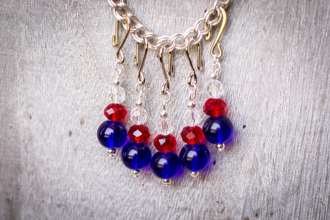 Independence Day Stitch Markers