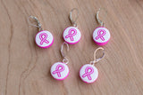 Pink Ribbon Stitch Markers