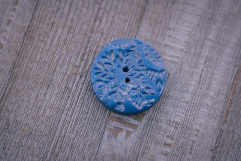 Blue Snowfall Buttons