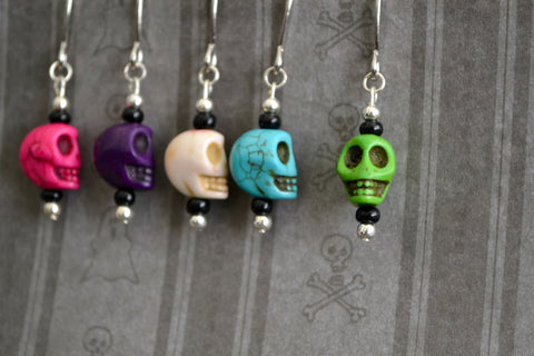 Candy Skulls Stitch Markers