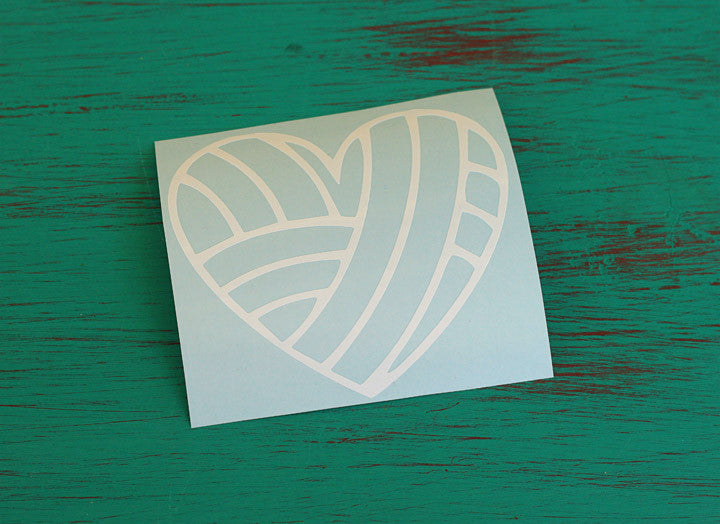 Yarn Heart Vinyl Decal