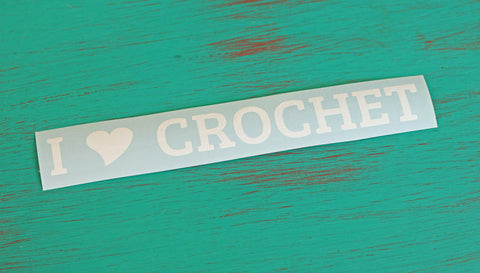 I Heart Crochet Vinyl Decal (Line)