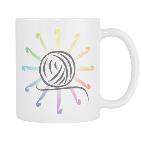 Crochet Color Wheel Mug