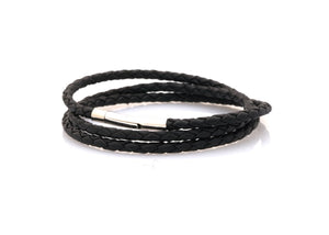 bracelet-woman-Venus-Neptn-Rhodium-3-schwarz-triple-leather