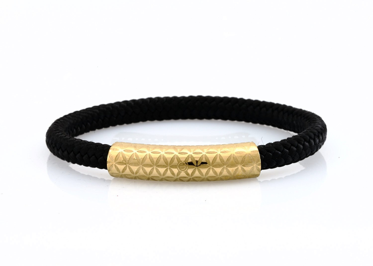 neptn women bracelet MINERVA F.o.L. Gold single 6 schwarz rope