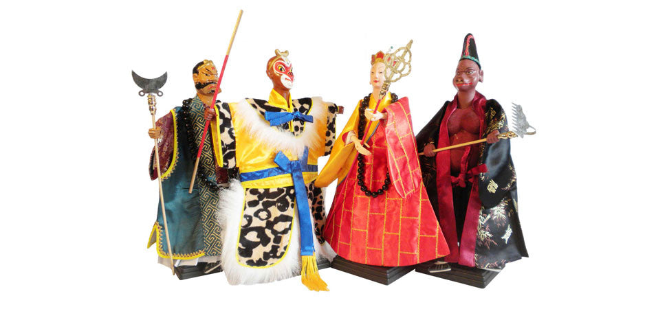Set of 4 Chinese Opera Puppets (Hand Puppets / Glove Puppets) from Journey to the West