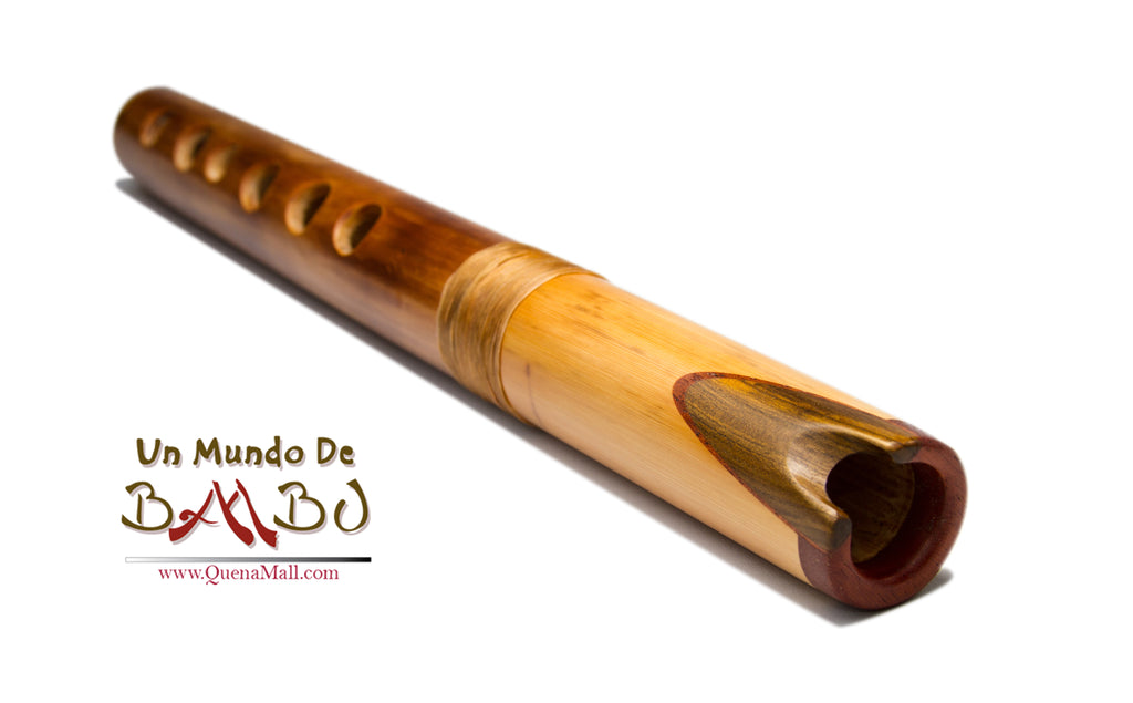 Professional Quena Thick Bamboo, Retamo and Chinrest in  G by Angel Sampedro for Thick Hands