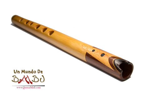 Professional Quena Bamboo, Lignum Vitae Guayacan Ebony in G by Angel Sampedro