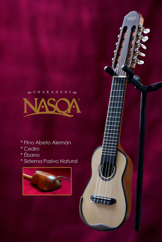 Charango Nasqa de Jacaranda or Ebony with Pine Abeto Classical or Acoustic