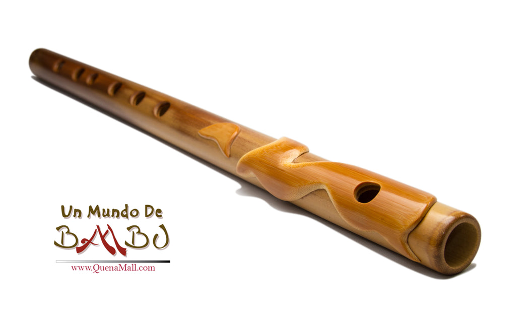 Transverse flute made of bamboo in G, F or C