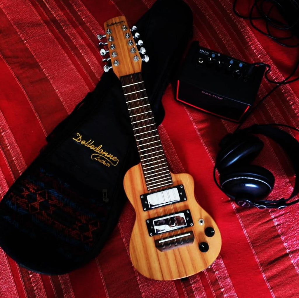 Charango - Electric with Humbucker Pickups - Guayubira and Paraiso Wood by Delledonne