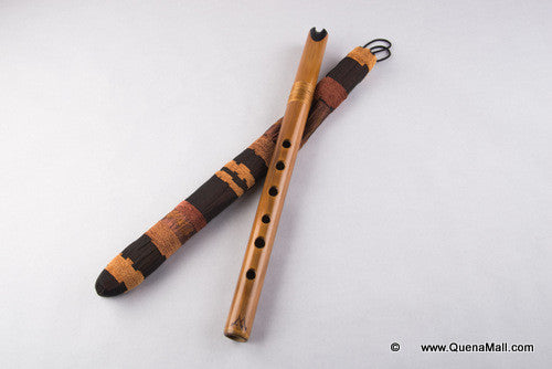 Professional Bamboo Ebony Quena in G by Angel Sampedro -Un Mundo de Bambu