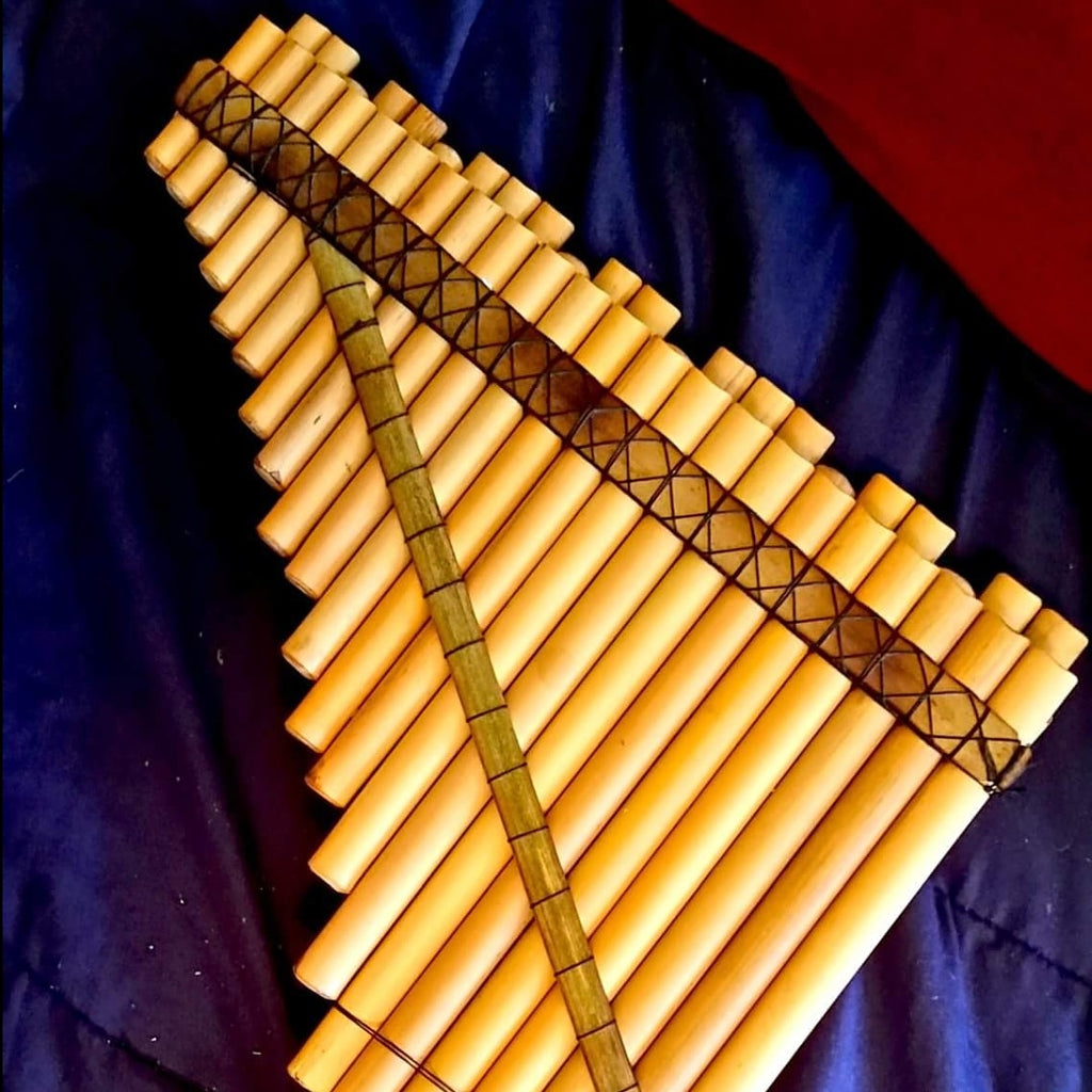 Panpipe Zampona Chromatic Piano Layout 2 Octaves 40~ Beleveled Tubes