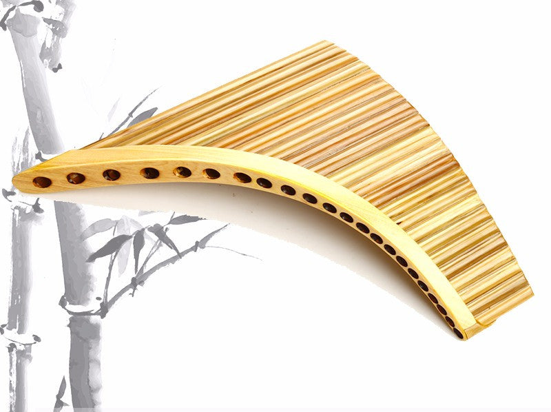 Panflute Right Hand Natural Bamboo 22 Pipes G1 to G4