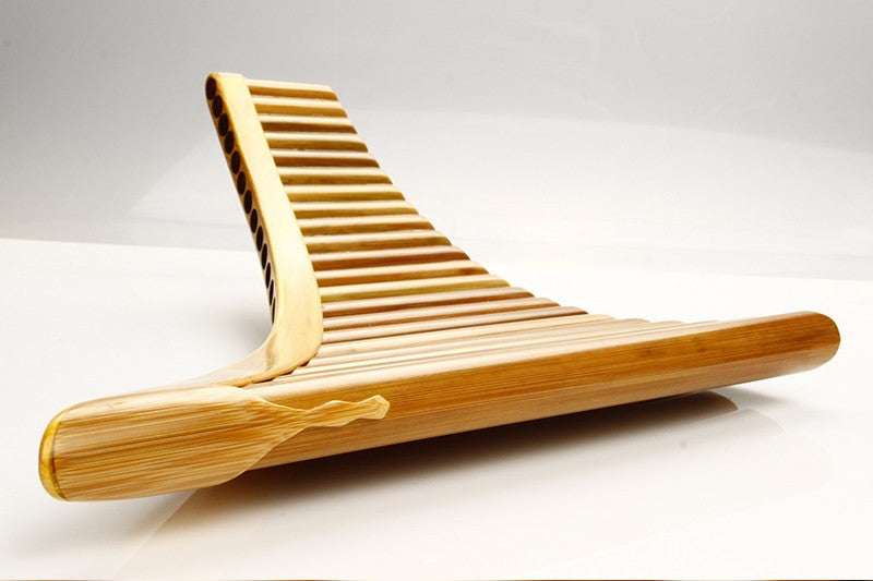 Panflute Right Hand Natural Bamboo in C 25 Pipes C1 to F4
