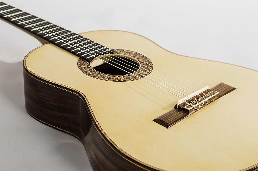 Classical Concert Tarazona Guitar: Indian Rosewood Spruce Mahogany Maple Cedar Spruce