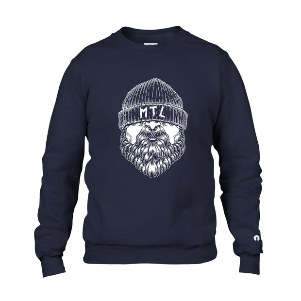 LE BARBU - Crewneck Bleu Navy - Le Cartel Clothing Inc.